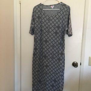 LuLaRoe geometric print dress, 2XL